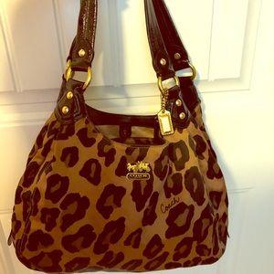 Leopard Coach Handbag
